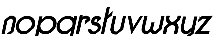 Pacotilleital regular Font LOWERCASE