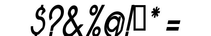 Pacotillenarrow regularital Font OTHER CHARS