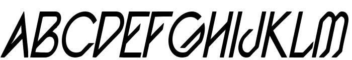 Pacotillenarrow regularital Font UPPERCASE