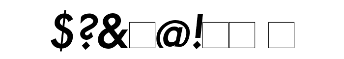Paddington Italic Font OTHER CHARS