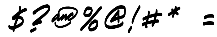 Paete Round Italic Font OTHER CHARS