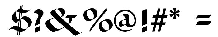 Paganini SemiBold Font OTHER CHARS