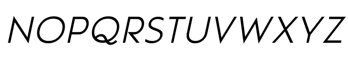 Pages Grotesque Light Demo Italic Font LOWERCASE