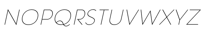 Pages Grotesque Thin Demo Italic Font LOWERCASE