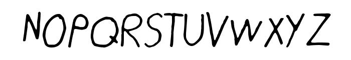 Pahan Puuskahdus Font UPPERCASE