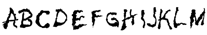 PainNBleed Font UPPERCASE