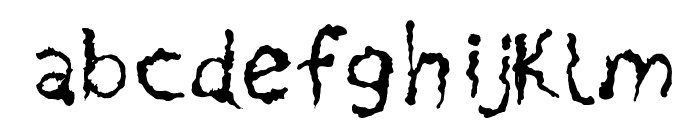 PainNBleed Font LOWERCASE
