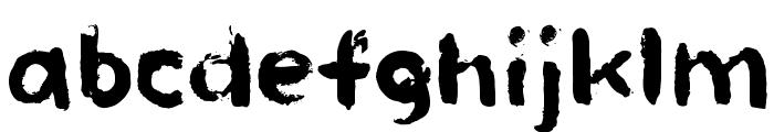 Paint HandRegular Font LOWERCASE