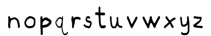 Paint Letters [Light] Font LOWERCASE