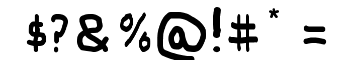 Paint Letters Font OTHER CHARS