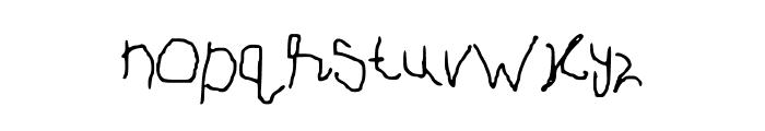 PaintPencil Font LOWERCASE