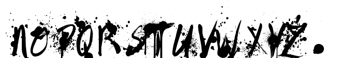 Painted Messy Font UPPERCASE