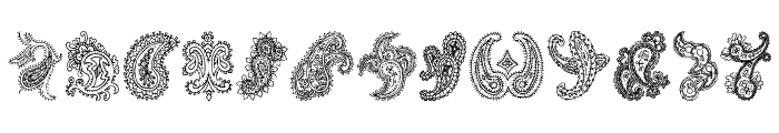 Paisley Font LOWERCASE