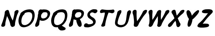 PajamaPantsBoldItalic Font UPPERCASE