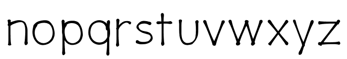 PajamaPantsLight Font LOWERCASE