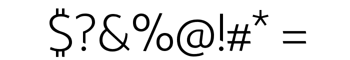 Palanquin ExtraLight Font OTHER CHARS