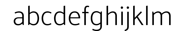 Palanquin ExtraLight Font LOWERCASE