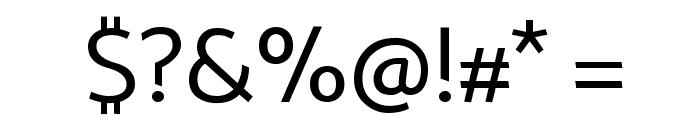 Palanquin Regular Font OTHER CHARS