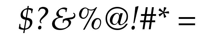 Palatia Italic Font OTHER CHARS