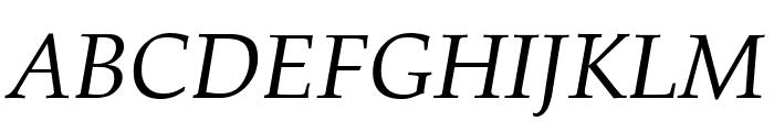 Palatia Italic Font UPPERCASE