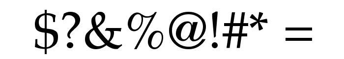 Palatia Regular Font OTHER CHARS