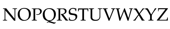 Palatia Regular Font UPPERCASE