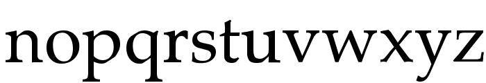 Palatia Regular Font LOWERCASE
