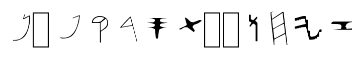Paleo-Hebrew NormalA Font LOWERCASE