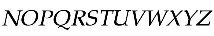 Pali Italic Font UPPERCASE