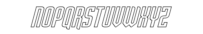 Palisoc Hollow Italic Font UPPERCASE