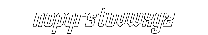 Palisoc Hollow Italic Font LOWERCASE