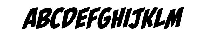 Palooka BB Italic Font UPPERCASE