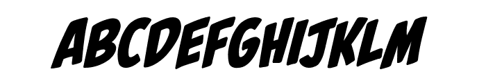 Palooka BB Italic Font LOWERCASE