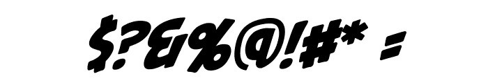 PalookaBB-Italic Font OTHER CHARS