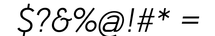 Paloseco Light Italic Font OTHER CHARS