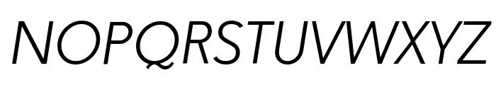 Paloseco Light Italic Font UPPERCASE