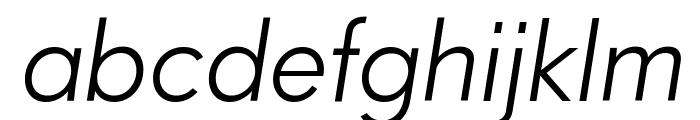 Paloseco Light Italic Font LOWERCASE