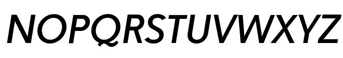 Paloseco Medium Italic Font UPPERCASE
