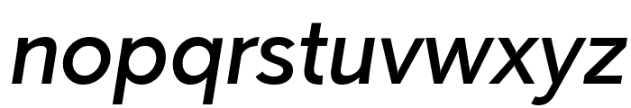 Paloseco Medium Italic Font LOWERCASE