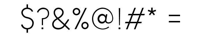 Panama Light Font OTHER CHARS