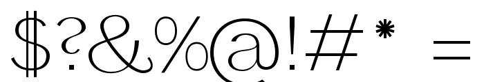 Panamera Light Font OTHER CHARS