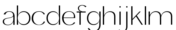 Panamera Light Font LOWERCASE