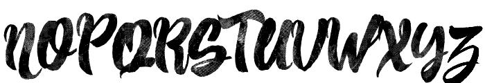 Pancake Syrup - Textured Font UPPERCASE