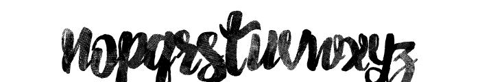 Pancake Syrup - Textured Font LOWERCASE