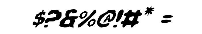Pandemonious Puffery Italic Font OTHER CHARS