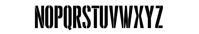 Pandemonium Stencil Regular Font UPPERCASE