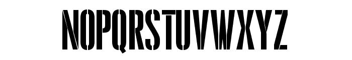 Pandemonium Stencil Regular Font LOWERCASE
