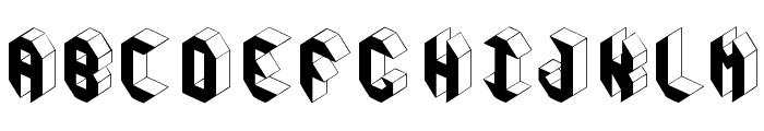 Pandimencional Bold Font UPPERCASE