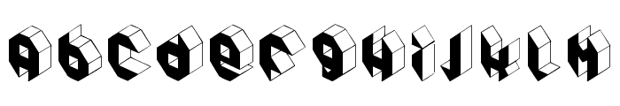Pandimencional Bold Font LOWERCASE