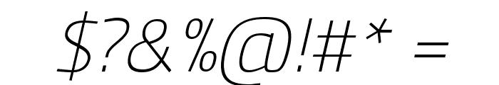Panefresco 1wt Italic Font OTHER CHARS